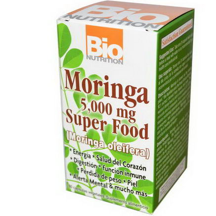 Bio Nutrition, Moringa Super Food, 500mg, 60 Veggie Caps
