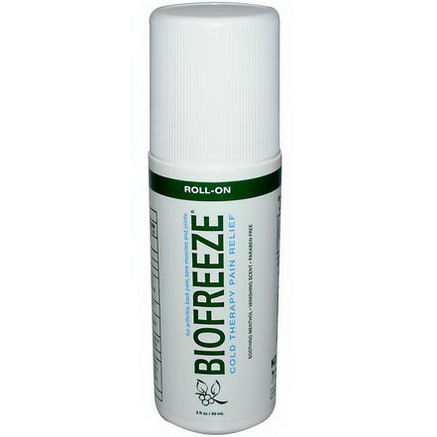 BioFreeze, BioFreeze, Cold Therapy Pain Relief, Roll-On, 3 fl oz (89 ml)