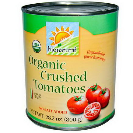 Bionaturae, Organic Crushed Tomatoes, No Salt Added, 28.2oz (800g)