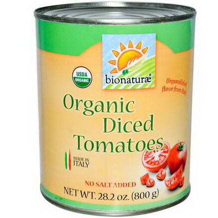 Bionaturae, Organic Diced Tomatoes, 28.2oz (800g)