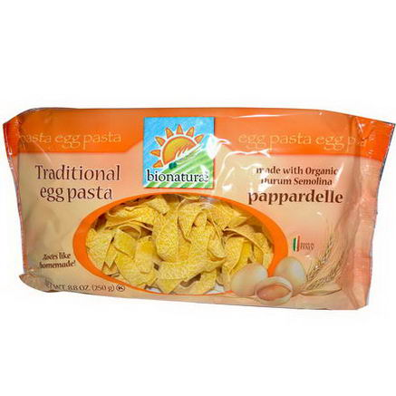 Bionaturae, Traditional Egg Pasta, Pappardelle, 8.8oz (250g)