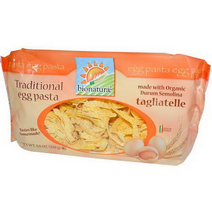 Bionaturae, Traditional Egg Pasta, Tagliatelle, 8.8oz (250g)