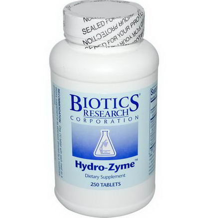 Biotics Research Corporation, Hydro-Zyme, 250 Tablets