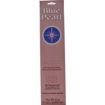 Blue Pearl, Classic Imported Incense, Sandalwood Blossom, 7oz (20g)
