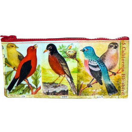 Blue Q, Birds Pencil Case, 4 1/4