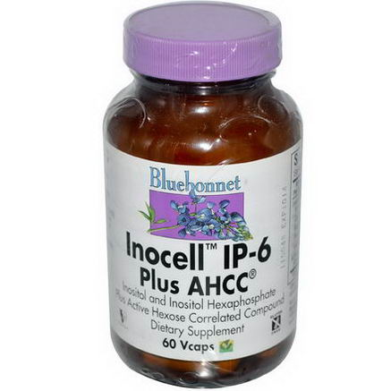 Bluebonnet Nutrition, Inocell IP-6 Plus AHCC, 60 Vcaps