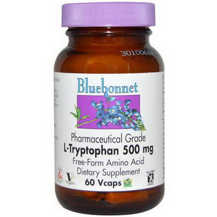 Bluebonnet Nutrition, L-Tryptophan, 500mg, 60 Vcaps