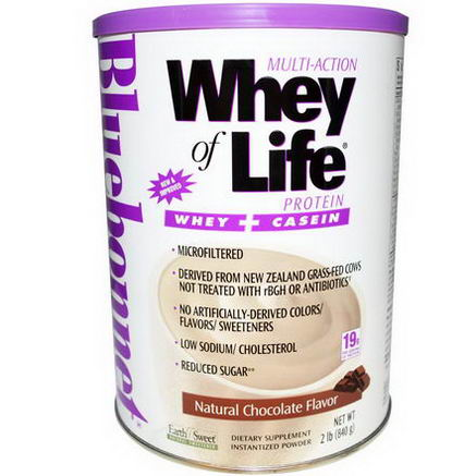 Bluebonnet Nutrition, Multi-Action Whey of Life Protein, Natural Chocolate Flavor, 2 lbs (840g)