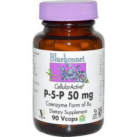 Bluebonnet Nutrition, P-5-P, 50mg, 90 Veggie Caps