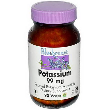 Bluebonnet Nutrition, Potassium, 99mg, 90 Vcaps