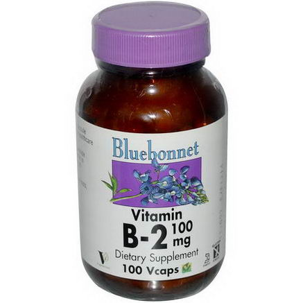Bluebonnet Nutrition, Vitamin B-2, 100mg, 100 Vcaps