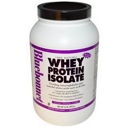 Bluebonnet Nutrition, Whey Protein Isolate, Natural Original Flavor, 2.2 lbs (992g)