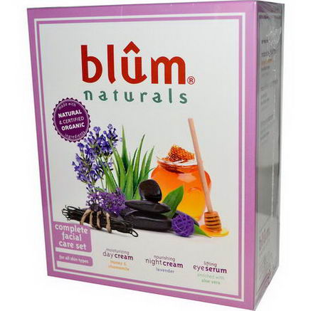 Blum Naturals, Complete Facial Care Set, 3 Piece Set