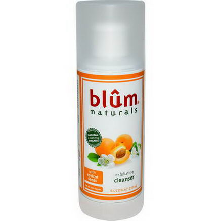 Blum Naturals, Exfoliating Cleanser with Apricot Seeds, 5.07oz (150 ml)