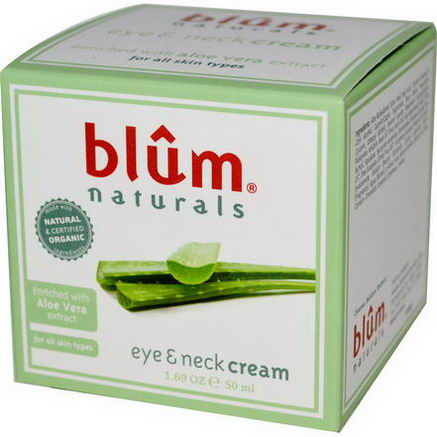 Blum Naturals, Eye & Neck Cream, 1.69oz (50 ml)