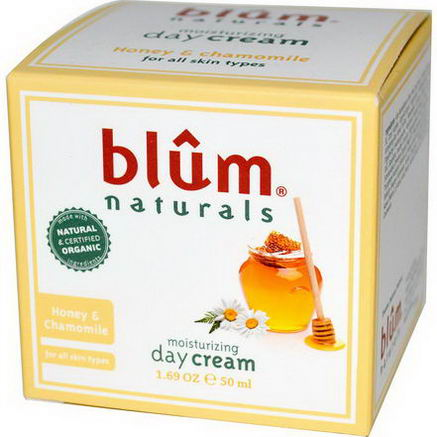 Blum Naturals, Moisturizing Day Cream, Honey & Chamomile, 1.69oz (50 ml)