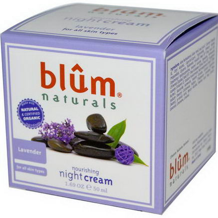 Blum Naturals, Nourishing Night Cream, Lavender, 1.69oz (50 ml)