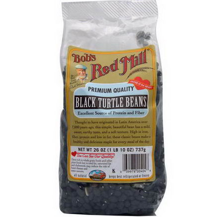 Bob's Red Mill, Black Turtle Beans, 26oz (737g)