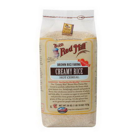 Bob's Red Mill, Creamy Rice, Brown Rice Farina, Hot Cereal, 26oz (737g)