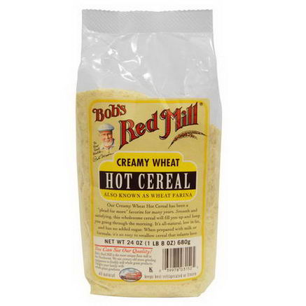 Bob's Red Mill, Creamy Wheat Hot Cereal, 24oz (680g)