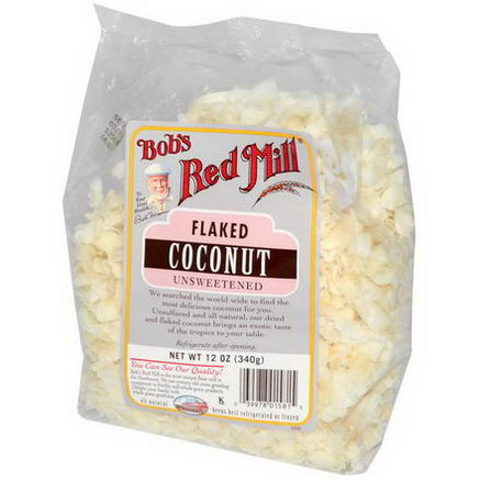 Bob's Red Mill, Flaked Coconut, Unsweetened, 12oz (340g)