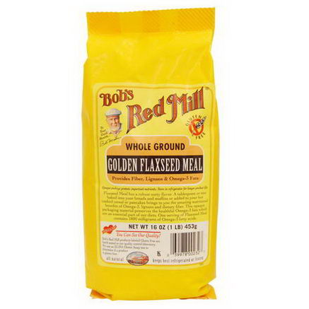 Bob's Red Mill, Golden Flaxseed Meal, 16oz (453g)