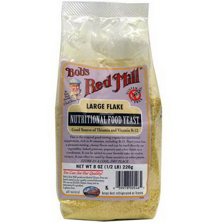 Bob's Red Mill, Large Flake Nutritional Food Yeast, 8oz (226g)