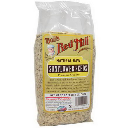 Bob's Red Mill, Natural Raw Sunflower Seeds, 20oz (567g)