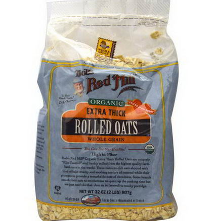 Bob's Red Mill, Organic, Extra Thick Rolled Oats, 32oz (907g)