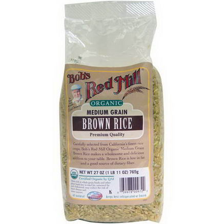 Bob's Red Mill, Organic, Medium Grain Brown Rice, 27oz (765g)