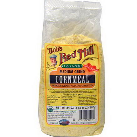 Bob's Red Mill, Organic, Medium Grind Cornmeal, 24oz (680g)