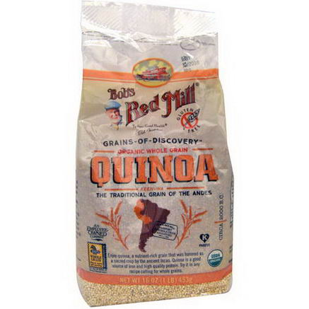 Bob's Red Mill, Organic Whole Grain Quinoa, 16oz (453g)