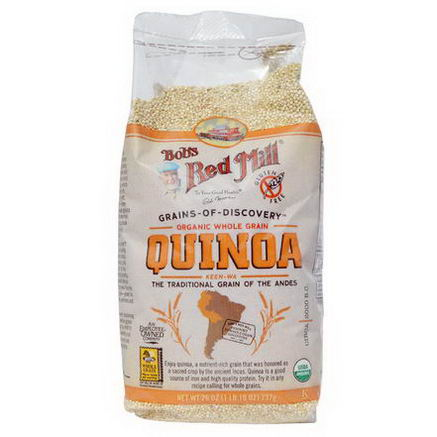 Bob's Red Mill, Organic Whole Grain Quinoa, 26oz (737g)