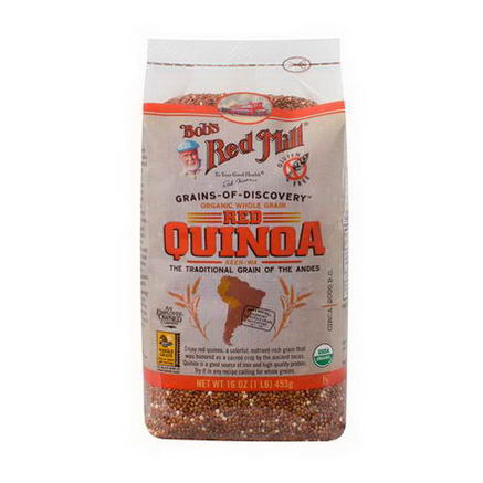 Bob's Red Mill, Organic Whole Grain Red Quinoa, 16oz (453g)