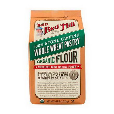 Bob's Red Mill, Organic, Whole Wheat Pastry Flour, 48oz (1.36 kg)