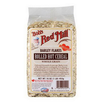 Bob's Red Mill, Rolled Hot Cereal, Barley Flakes, 16oz (453g)