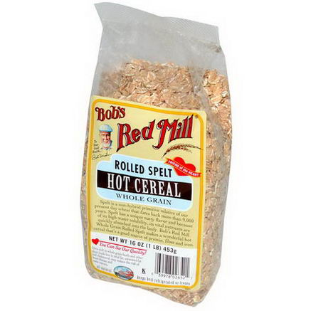 Bob's Red Mill, Rolled Spelt, Hot Cereal, 16oz (453g)