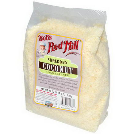 Bob's Red Mill, Shredded Coconut, Unsweetened, 24oz (680g)