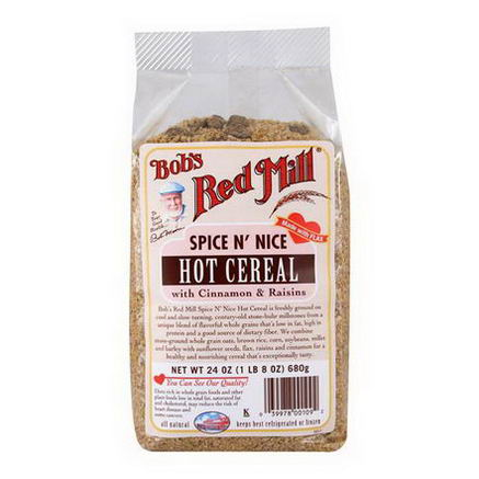 Bob's Red Mill, Spice N' Nice Hot Cereal, with Cinnamon & Raisins, 24oz (680g)