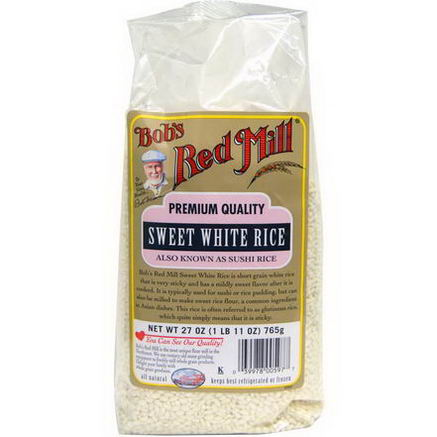 Bob's Red Mill, Sweet White Rice, 27oz (765g)