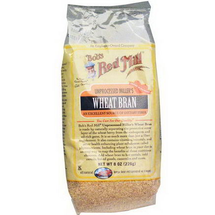 Bob's Red Mill, Unprocessed Miller's Wheat Bran, 8oz (226g)