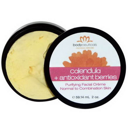 Bodyceuticals Calendula Skincare, Purifying Facial Cream, Calendula + Antioxidant Berries, 2oz (59.14 ml)