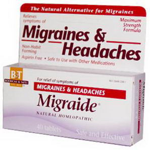 Boericke & Tafel, Migraide, Maximum Strength Formula, 40 Tablets