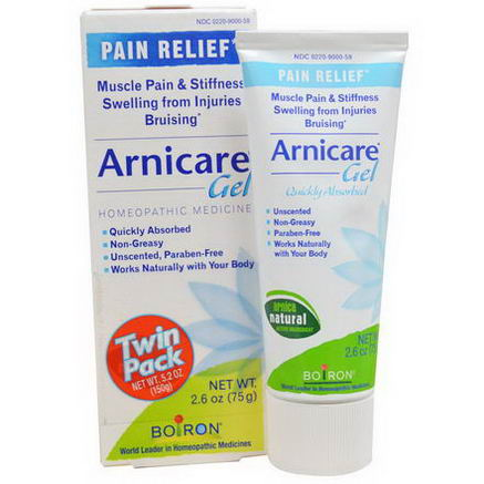 Boiron, Arnicare Gel, Pain Relief, Twin Pack, 2.6oz (75g) Each