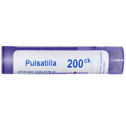 Boiron, Single Remedies, Pulsatilla, 200 CK, Approx 80 Pellets
