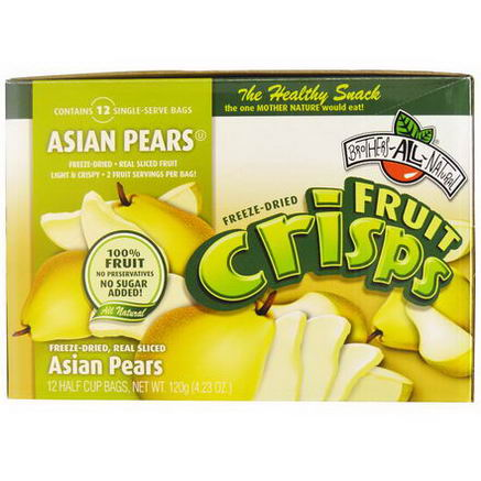 Brothers-All-Natural, Fruit-Crisps, Asian Pears, 12 Half Cup Bags, 10g Each