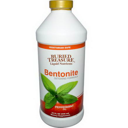 Buried Treasure, Bentonite Detoxing Formula, Peppermint Oil, 32 fl oz (946 ml)
