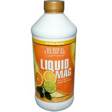 Buried Treasure, Liquid Mag, Citrus Flavor Liquid Magnesium, 16 fl oz (473 ml)