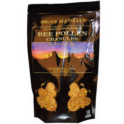 C. C. Pollen, High Desert, Bee Pollen Granules, 16oz (454g) (Ice)