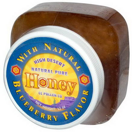 C. C. Pollen, High Desert, Natural Pure Honey, Blueberry Flavor, 12oz